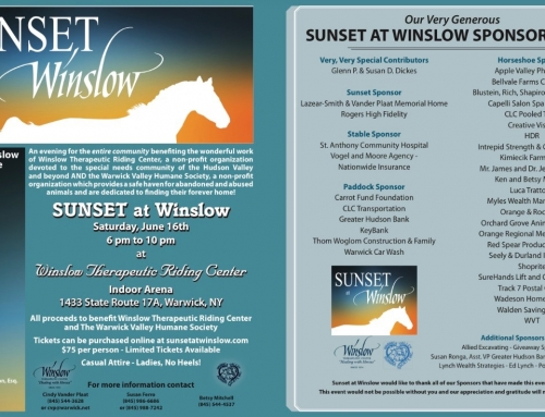 Our Very Generous 2018 Sunset at Winslow Sponsors