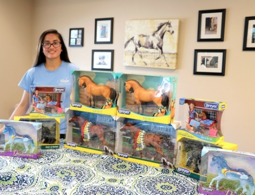 Winslow Therapeutic Riding Center volunteer obtains donation of Breyer horses